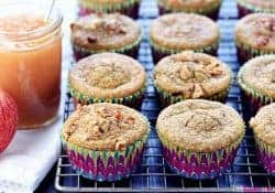 Healthy Blender Applesauce Muffins