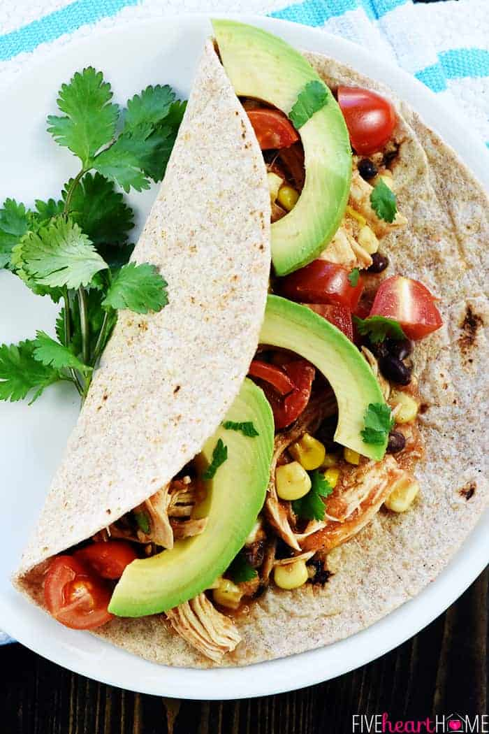 Instant Pot Chicken Black Bean Tacos