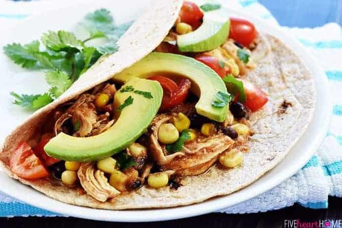 Instant Pot Chicken & Black Bean Tacos