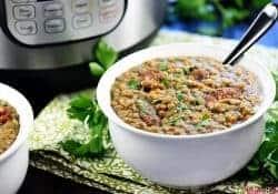 Instant Pot German Lentil Soup