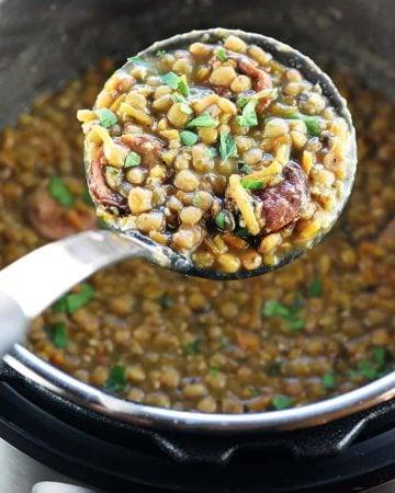 Instant Pot German Lentil Soup.