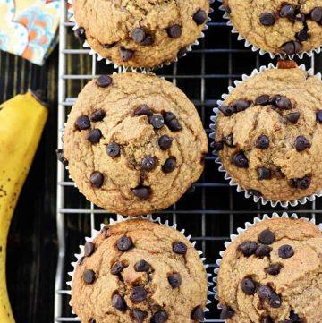 Blender Banana Oatmeal Muffins