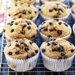 Flourless Banana Oat Blender Muffins ~ these healthy, naturally sweetened muffins include oatmeal, Greek yogurt, and honey in a batter that effortlessly comes together in the blender! | FiveHeartHome.com