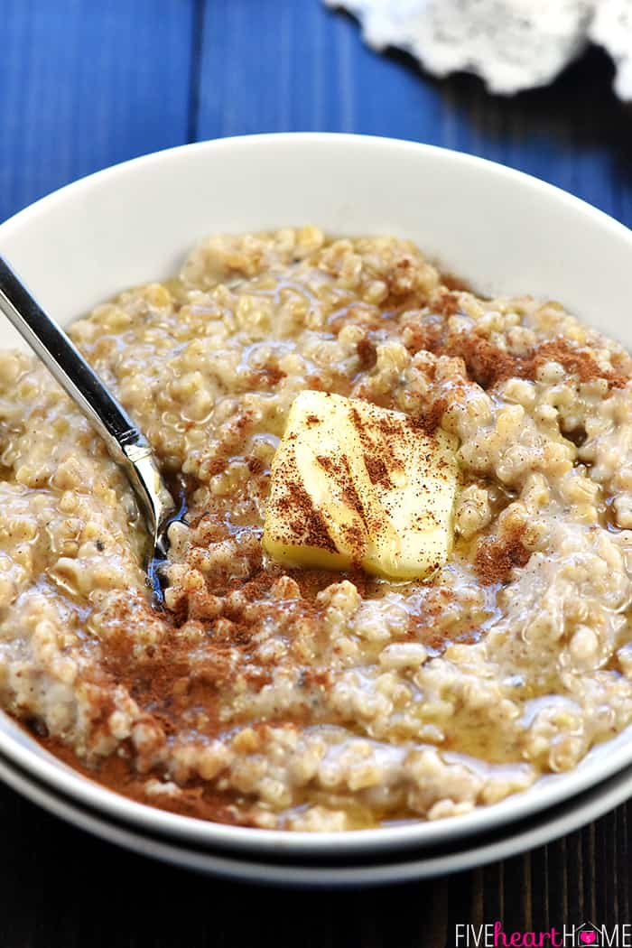 Make-Ahead Steel Cut Oatmeal