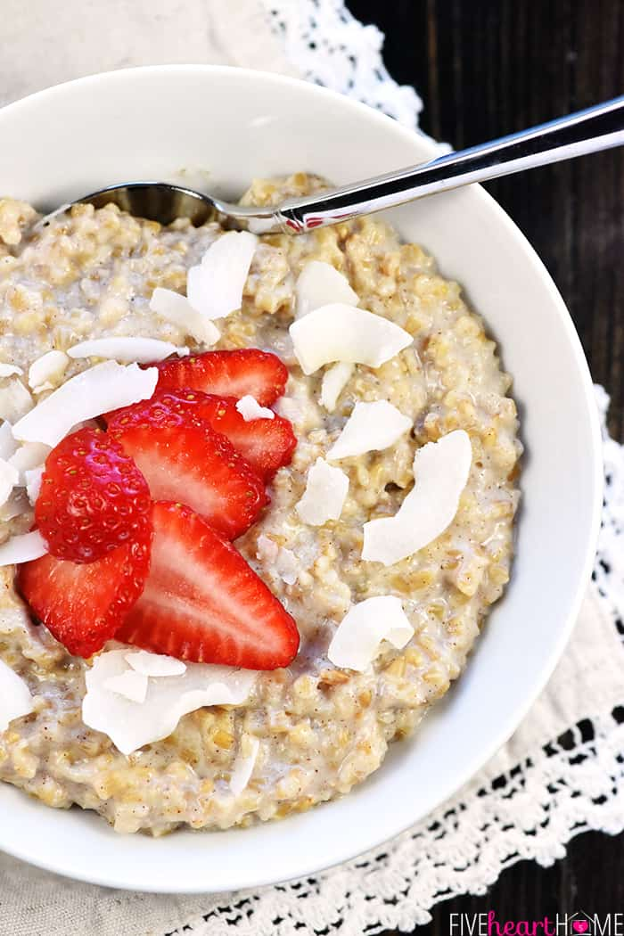 Make-Ahead Frozen Steel Cut Oats