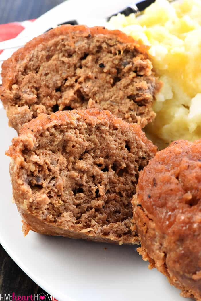 Close-up of Taco Meatloaf Muffins