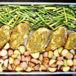 Sheet Pan Pesto Chicken & Roasted Vegetables
