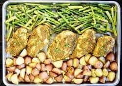 Sheet Pan Pesto Chicken & Vegetables