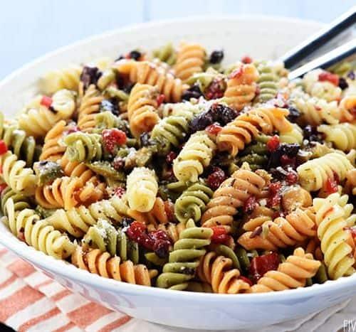 Easy Pasta Salad Perfect For Potlucks Picnics Parties Fivehearthome