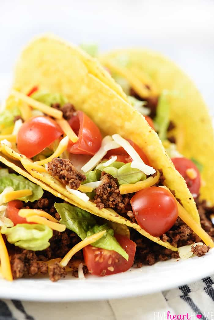 Taco Seasoning Recipe used for a plate of tacos