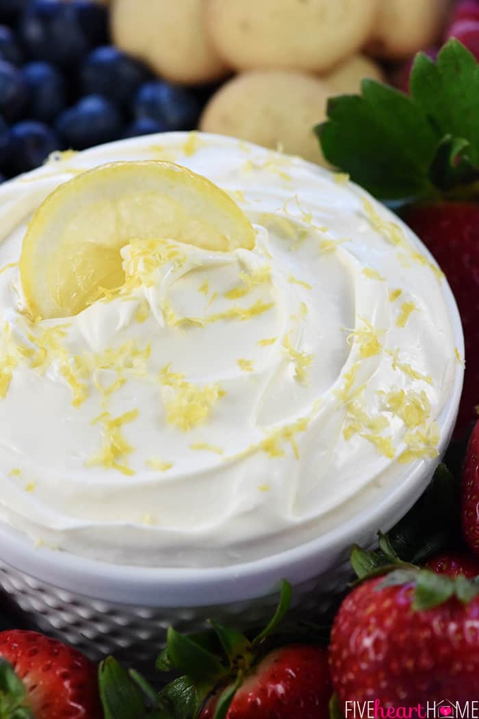 Lemon Fruit Dip Close Up
