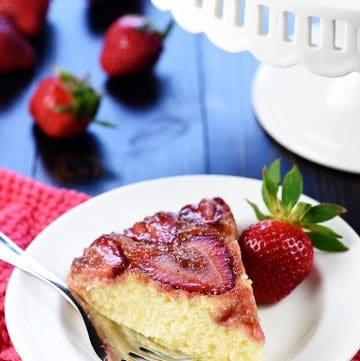 Strawberry Upside-Down Cake + VIDEO