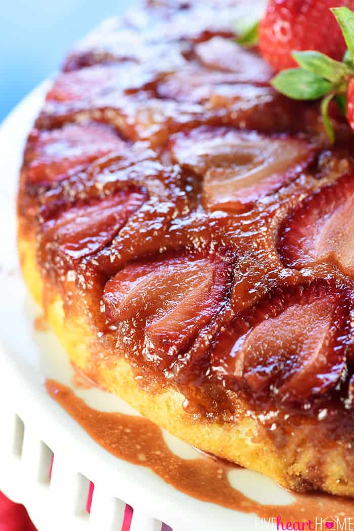 Upside Down Strawberry Cake
