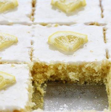 Lemon Sheet Cake Recipe from Scratch