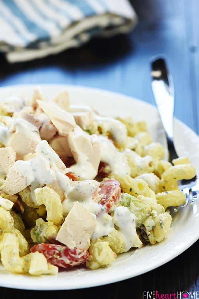 California Cobb Pasta Salad with Chicken