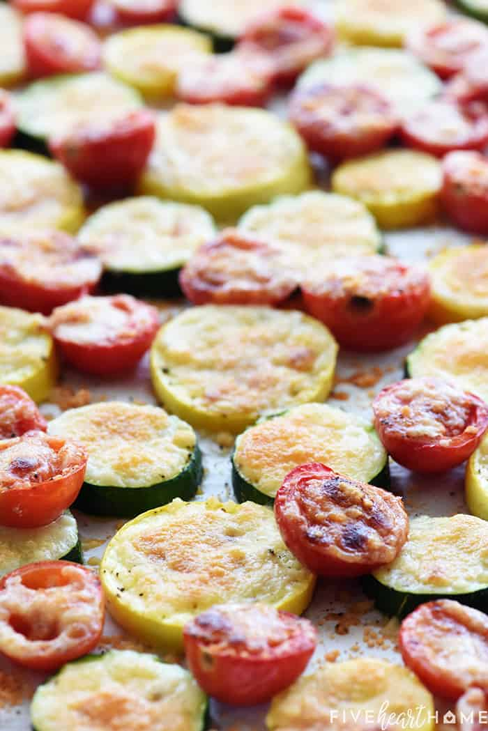 Summer Vegetables Roasted with Parmesan