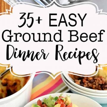 Easy Dinner Recipes with Ground Beef Round-Up ~ 35 quick, family-friendly, and absolutely delicious dinner ideas...perfect for busy weeknights! | FiveHeartHome.com