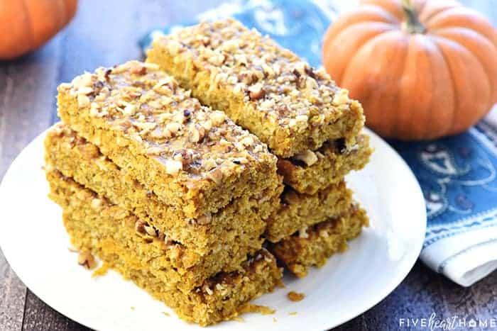 Healthy Pumpkin Breakfast Bars