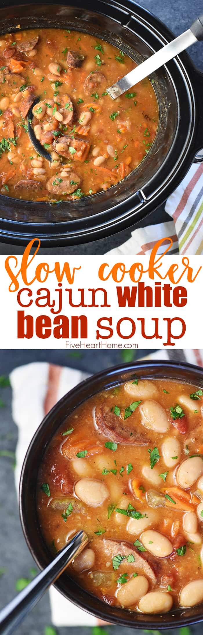 Slow Cooker White Bean Cajun Soup