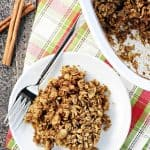 Gingerbread Baked Oatmeal ~ a wholesome, delicious, and easy to make recipe, with warm cozy spices that make it an ideal holiday or winter breakfast! | FiveHeartHome.com