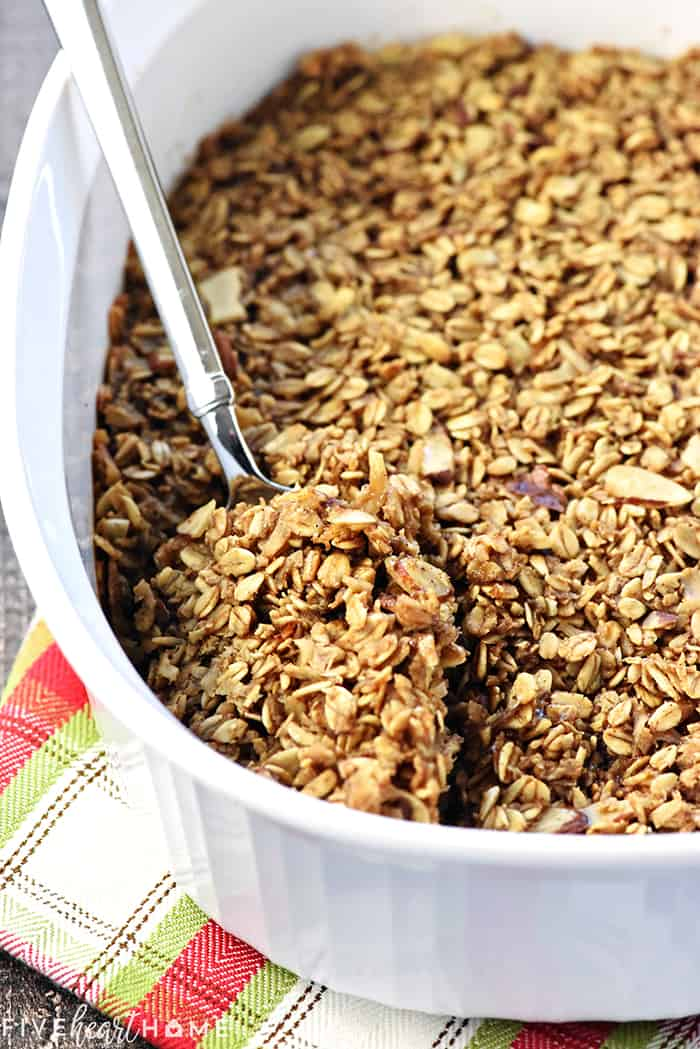 Baked Gingerbread Oatmeal