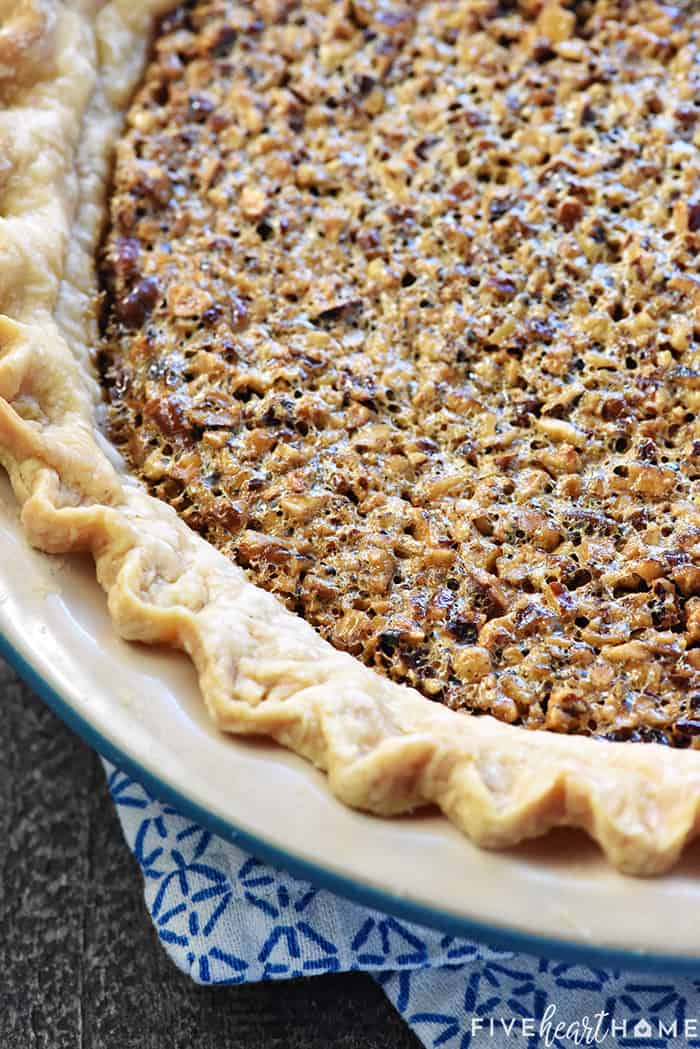 Old Fashioned Pecan Pie with Buttery Crust