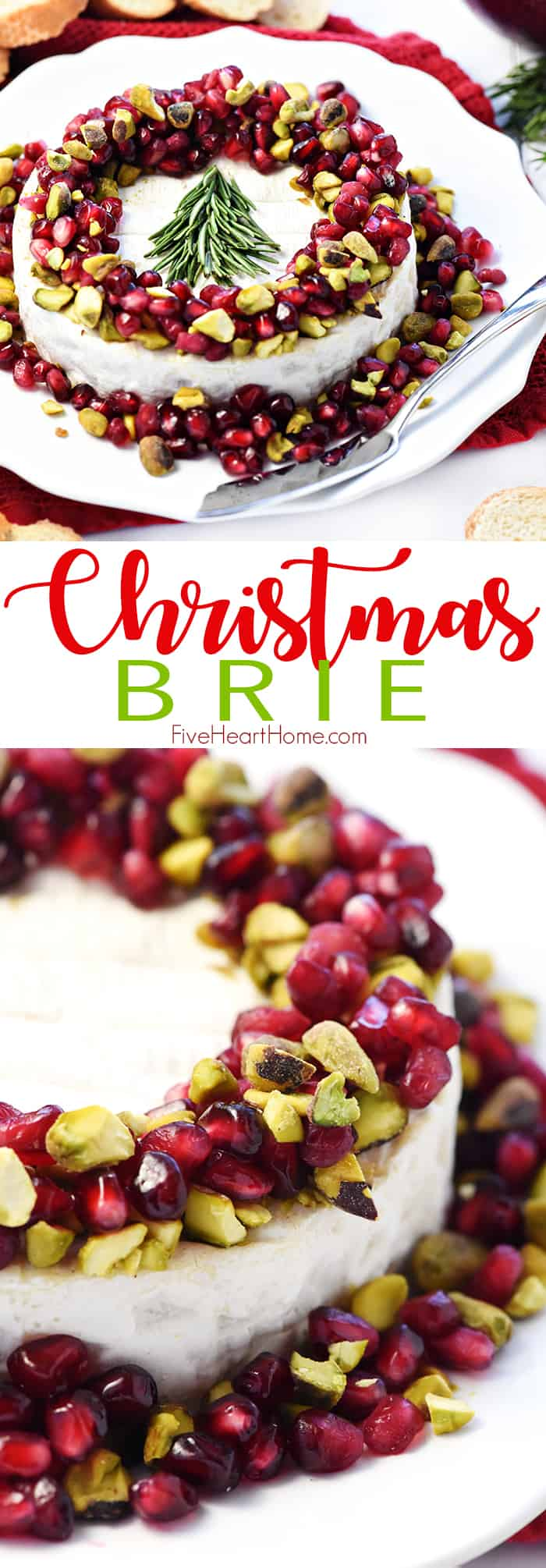 Christmas Brie Collage with Text Overlay