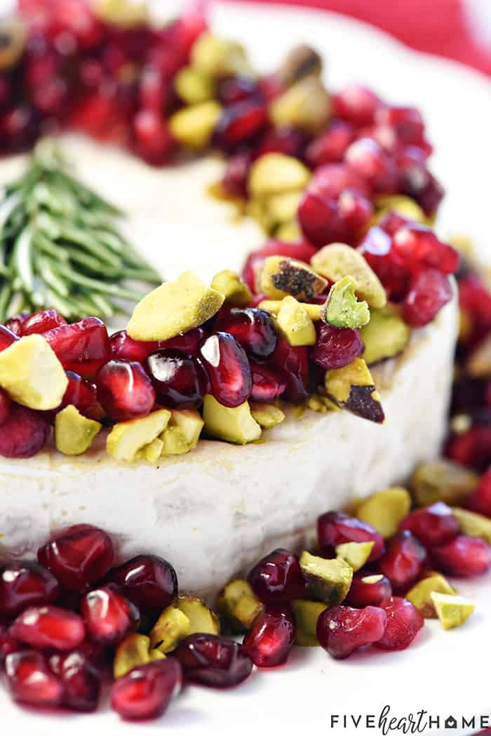 Close-Up Showcasing Pomegranate and Pistachio Garnish