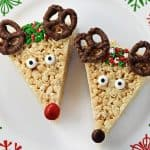 Reindeer Rice Krispie Treats ~ a cute, festive, and easy to make Christmas recipe that's a fun holiday project for the kids and a yummy treat to share with neighbors and friends! | FiveHeartHome.com
