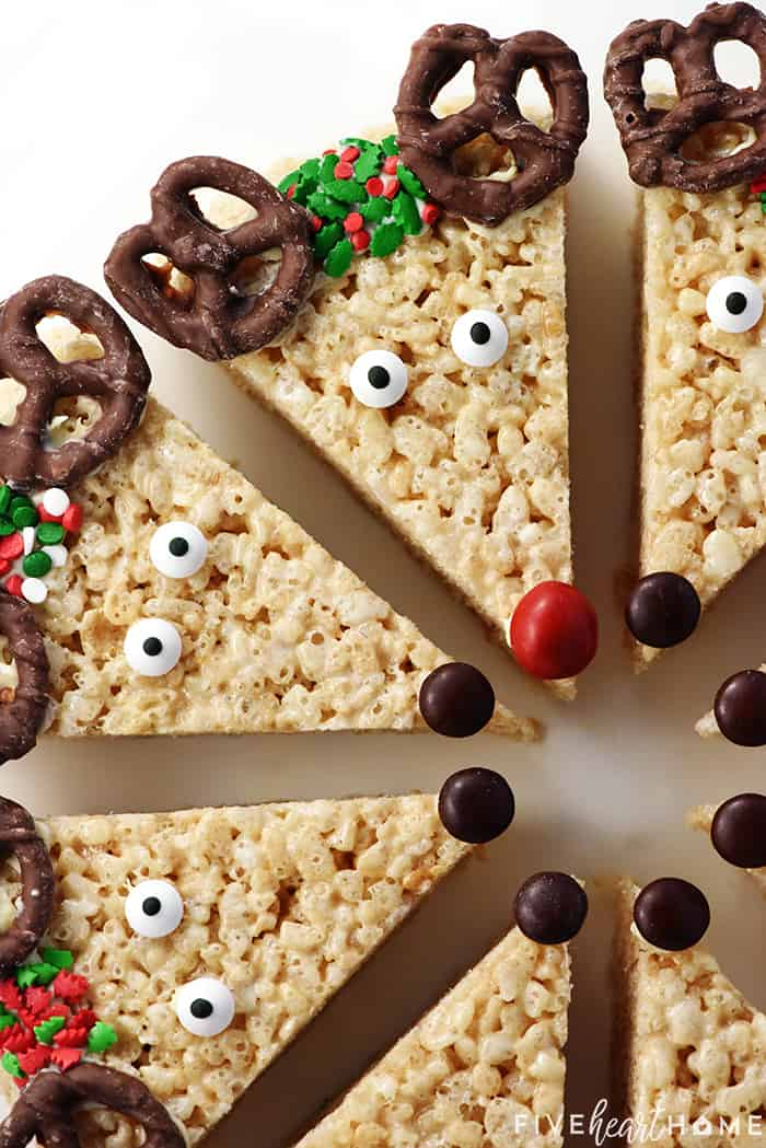 Rice Crispy Treat Christmas.Reindeer Rice Krispie Treats