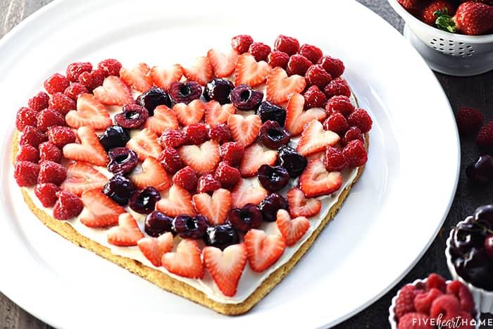 Valentine's Dessert Fruit Pizza