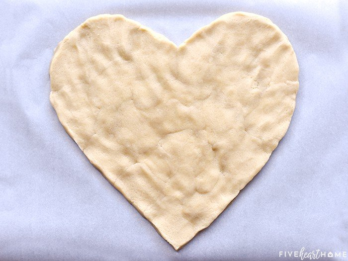 Heart Shaped Sugar Cookie Dough