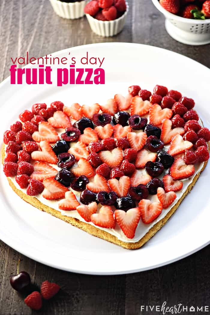 Valentine's Day Fruit Pizza Recipe