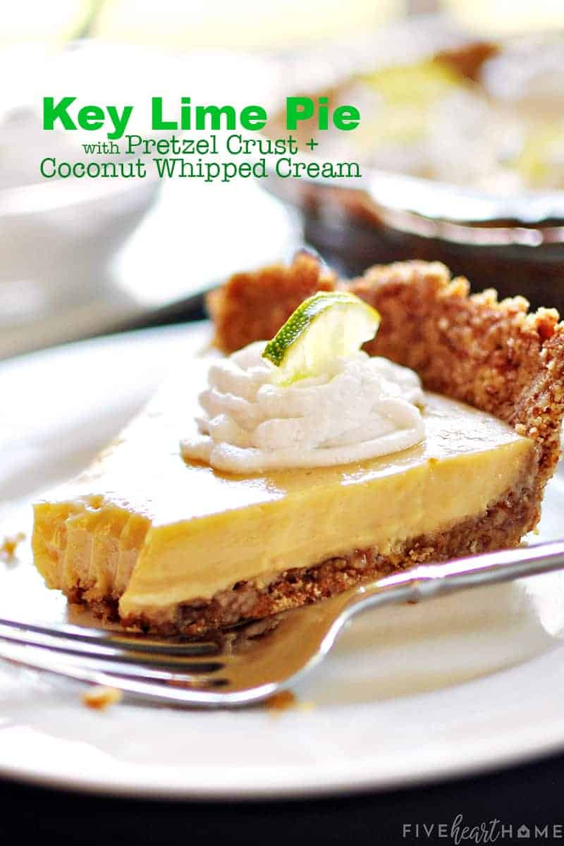 key lime pie recipe with text overlay