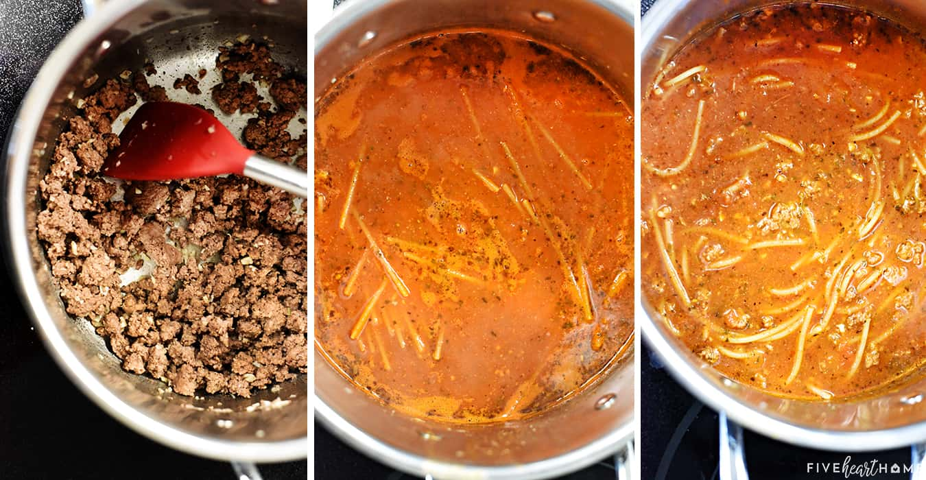 How to Make One Pot Spaghetti