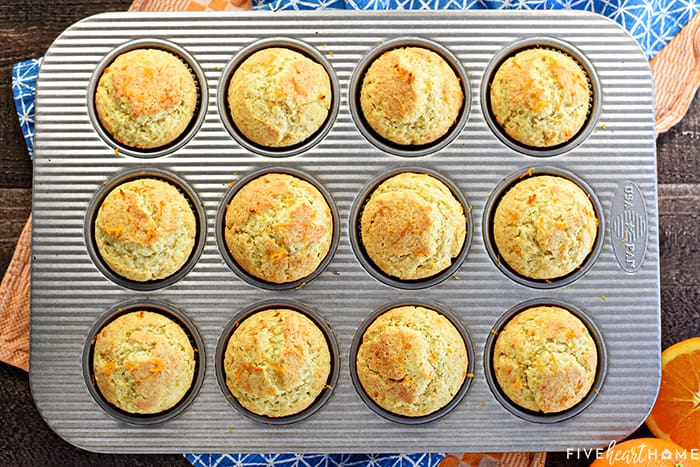 Pan of Orange Muffins