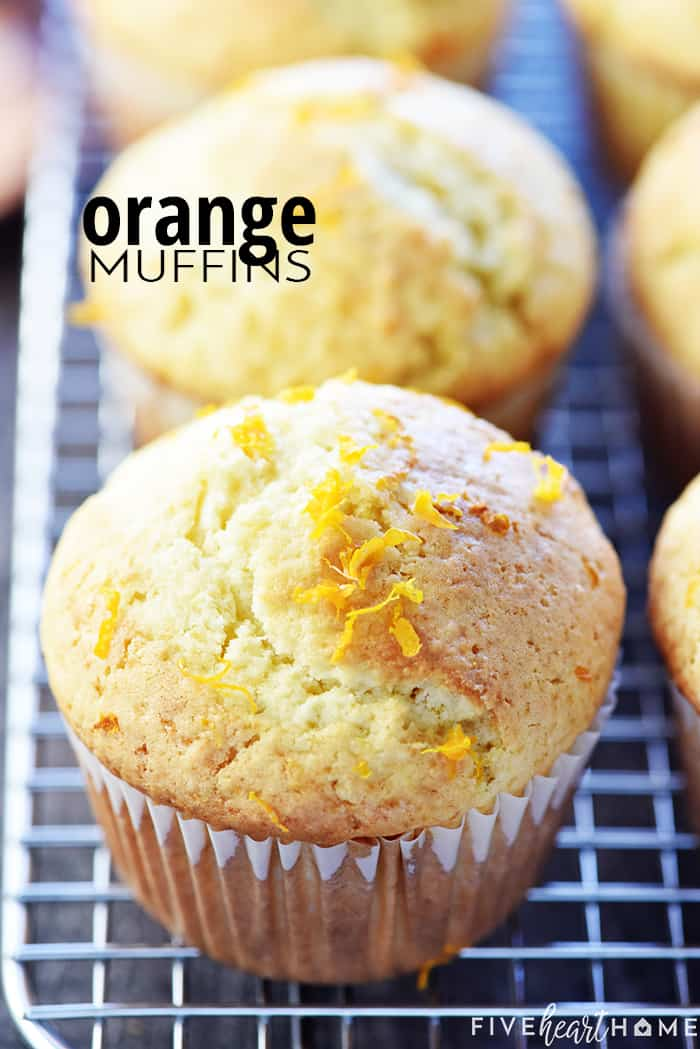 Orange Muffins with text overlay.