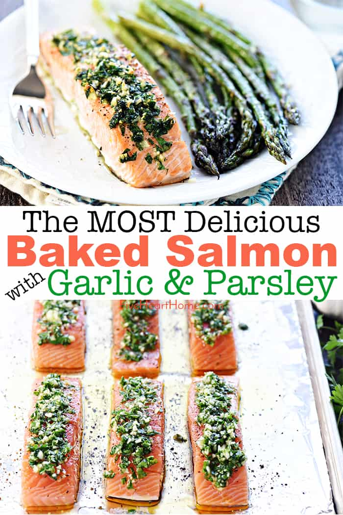 Baked Salmon with Garlic & Parsley