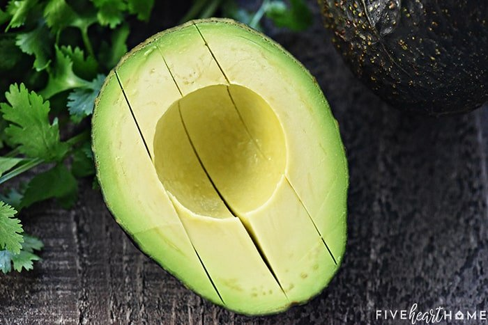 how to slice an avocado