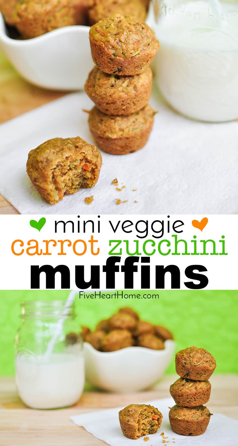 Mini Veggie Muffins collage with text