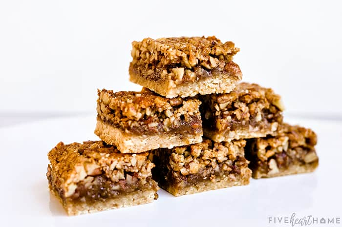 Stack of Pecan Pie Bars