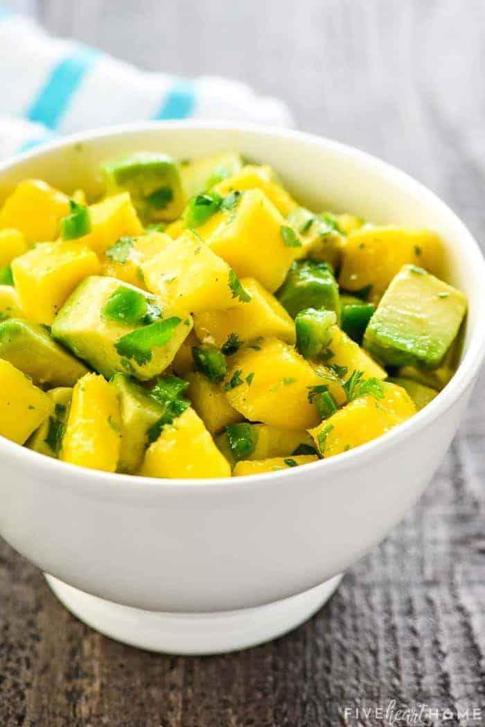 Mango Salsa recipe in a bowl