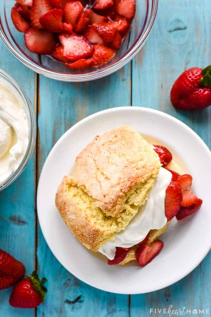 The How to Make Strawberry Shortcake, finished on plate