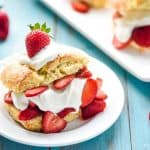 The BEST Easy Strawberry Shortcake Recipe ~ a simple, homemade, scrumptious version of the classic summertime dessert! | FiveHeartHome.com