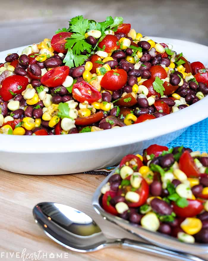 Black Bean and Corn Salad in a serving dish