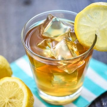 Boozy Arnold Palmer Drink ~ a spiked version of the classic, combining fresh lemonade and sweet tea vodka for a refreshing summer cocktail! | FiveHeartHome.com #arnoldpalmer #arnoldpalmerrecipe #arnoldpalmerdrink #lemonade #sweetteavodka #summercocktail