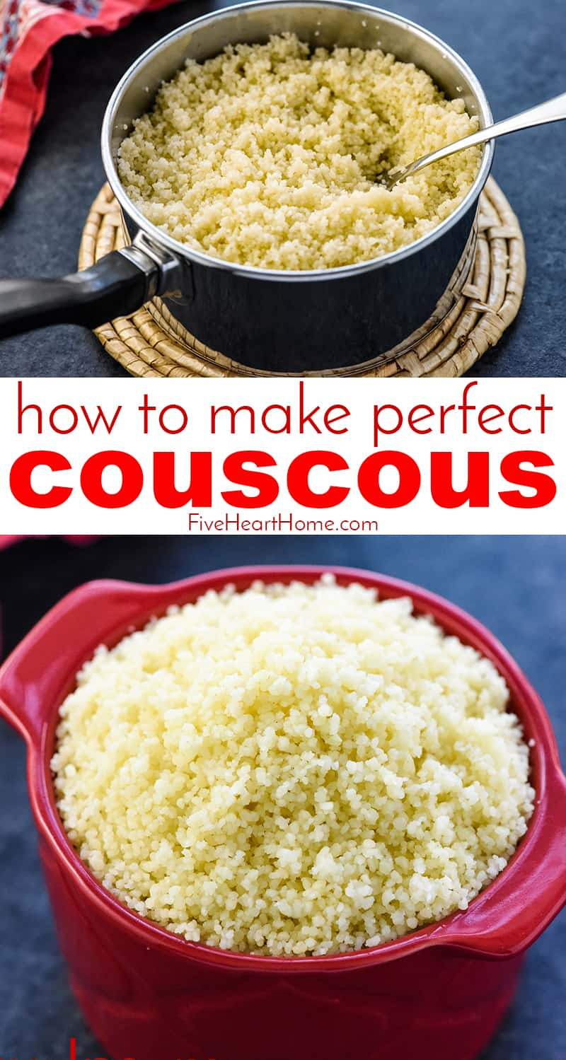 How to Cook Perfect Couscous collage with text