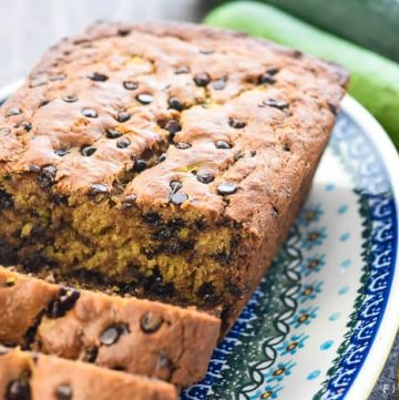 Healthy Zucchini Banana Bread is moist and delicious, made with whole wheat flour and sweetened with honey for the perfect way to use up abundant zucchini and overripe bananas! | FiveHeartHome.com #zucchinibread #bananabread #zucchinibananabread #zucchini #wholewheatflour