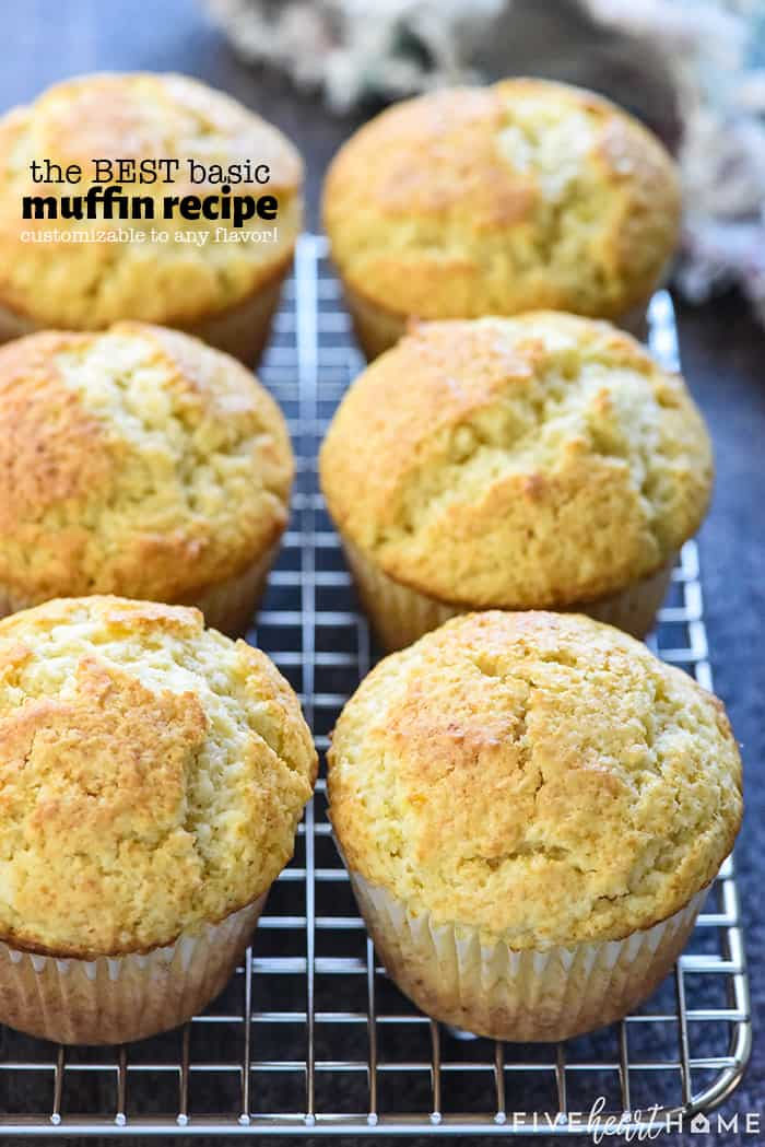 The BEST Basic Muffin Recipe with text overlay