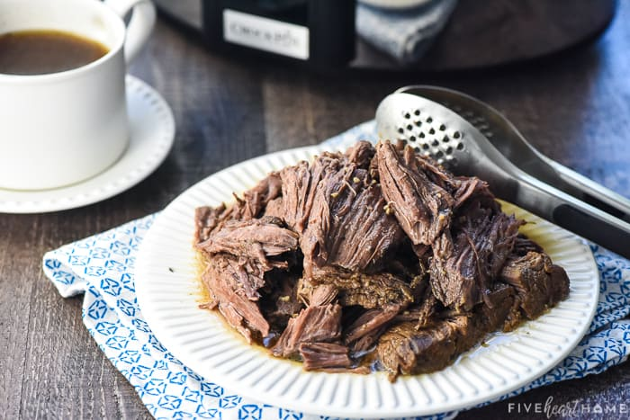 Beef and au jus from French Dip recipe.